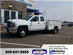 2017 Silverado 3500 Double Cab 4x4, Harbor Service Body #FCHH1177 - photo 1