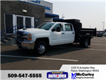 2017 Silverado 3500 Crew Cab DRW 4x4, Dump Body #FCHH1196 - photo 1