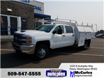2017 Silverado 3500 Crew Cab 4x4, Harbor Contractor Body #FCHH910 - photo 1