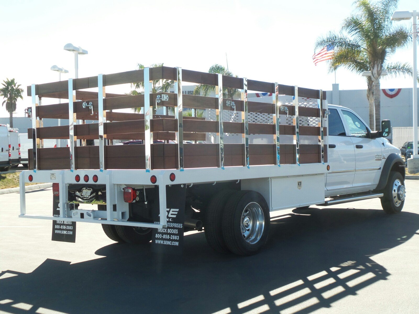 2017 Ram 4500 Crew Cab DRW, Scelzi Western Flatbed Stake Bed #D2345 - photo 2
