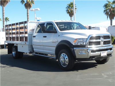 2017 Ram 4500 Crew Cab DRW, Scelzi Western Flatbed Stake Bed #D2345 - photo 1