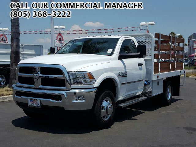 2017 Ram 3500 Regular Cab DRW, Scelzi Western Flatbed Stake Bed #D2546 - photo 1