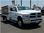 2017 Ram 3500 Regular Cab DRW, Scelzi Western Flatbed Stake Bed #D2546 - photo 4