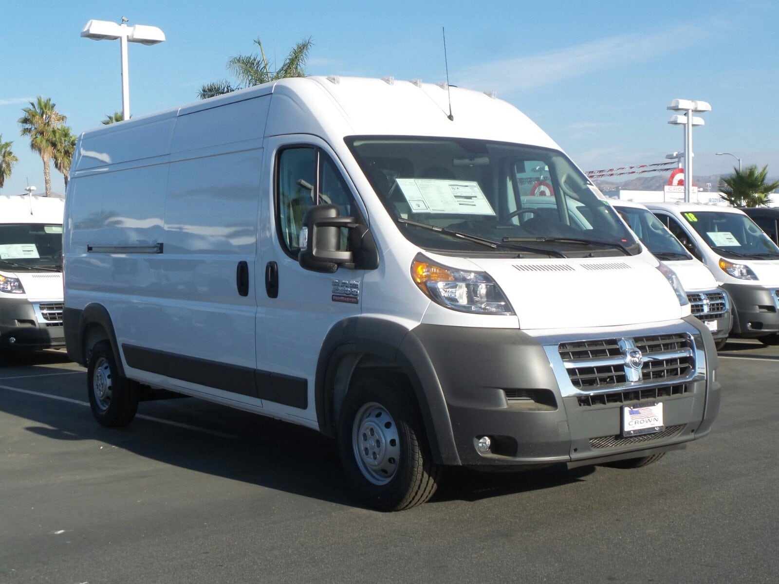 2018 ProMaster 2500 High Roof, Cargo Van #E1074 - photo 3