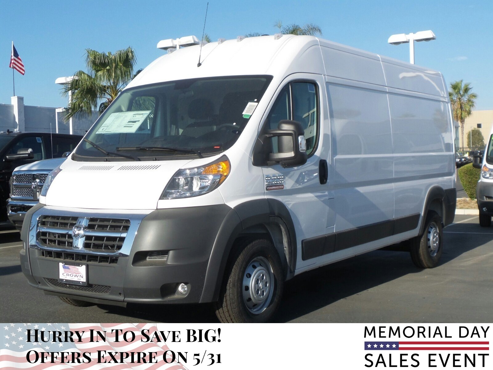 2018 ProMaster 2500 High Roof, Cargo Van #E1074 - photo 9