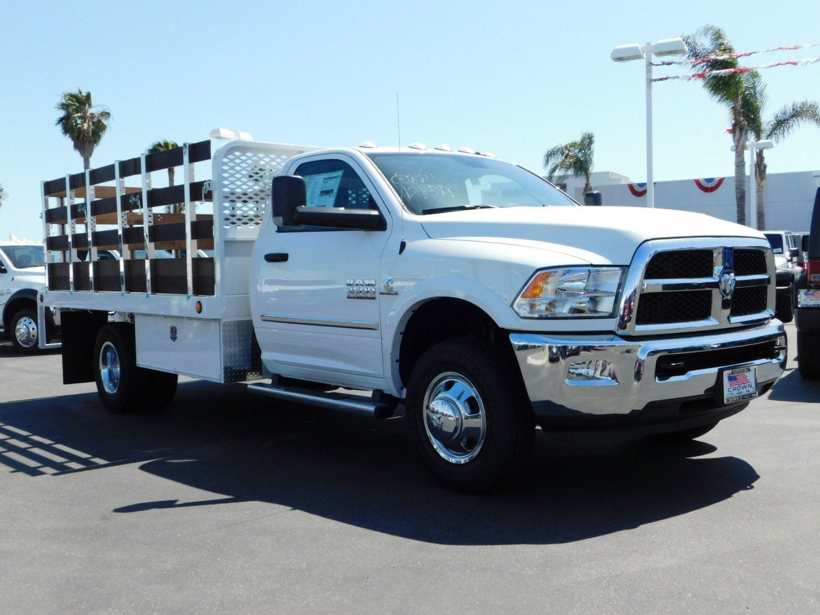 2018 Ram 3500 Regular Cab DRW 4x2,  Scelzi WFB Stake Bed #E1965 - photo 4