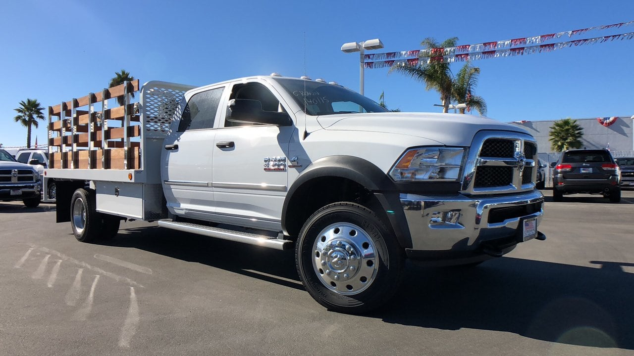 2018 Ram 4500 Crew Cab DRW 4x2,  Scelzi WFB Stake Bed #E2197 - photo 1