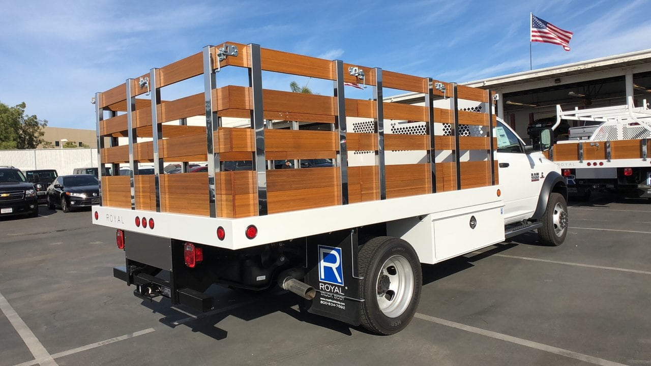 2018 Ram 5500 Regular Cab DRW 4x2,  Royal Stake Bed #E3163 - photo 7