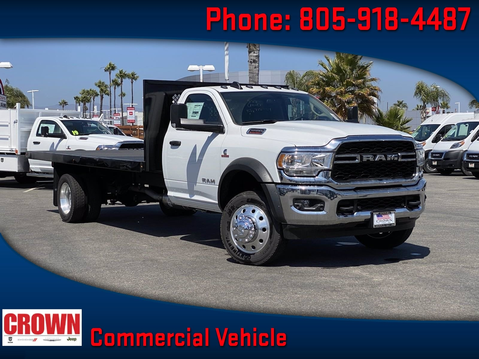 2019 Ram 5500 Regular Cab DRW 4x2, Harbor Platform Body #G3472 - photo 1