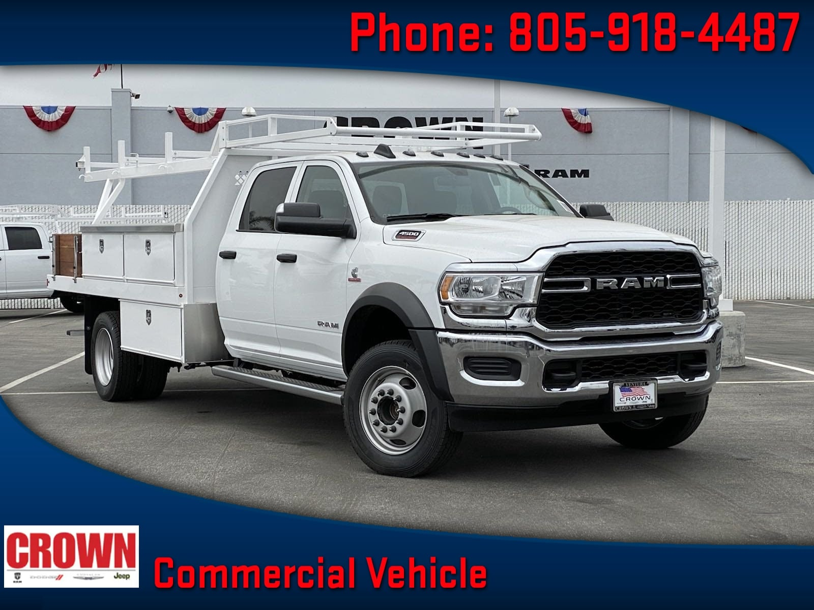 2020 Ram 4500 Crew Cab DRW 4x4, Harbor Contractor Body #H1852 - photo 1