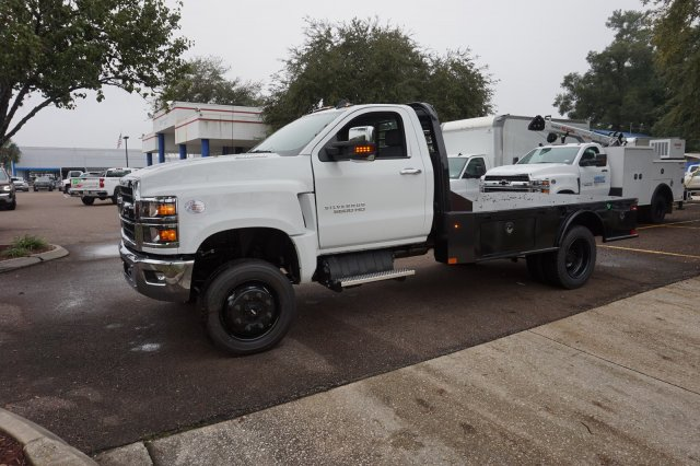 2019 Silverado Medium Duty Regular Cab DRW 4x4, Platform Body #19C1607 - photo 1
