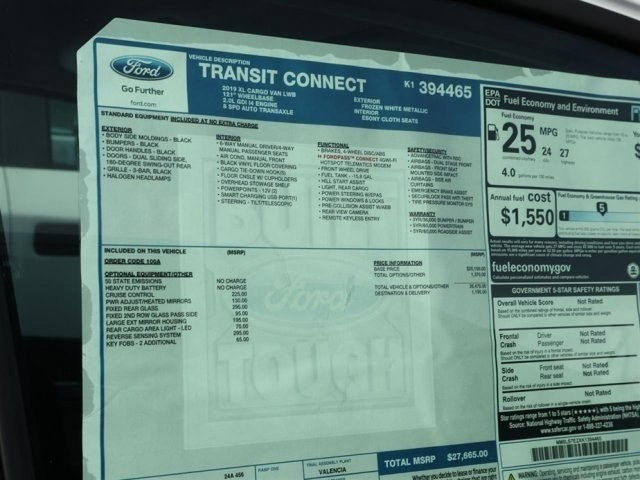 2019 Transit Connect 4x2,  Empty Cargo Van #20670 - photo 12