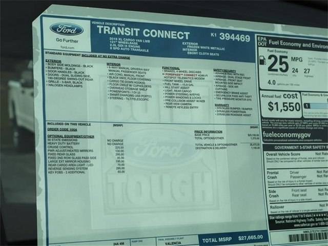 2019 Transit Connect 4x2,  Empty Cargo Van #40120 - photo 10