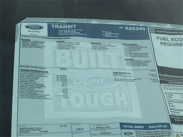 2019 Transit 250 Med Roof 4x2,  Empty Cargo Van #40400 - photo 10