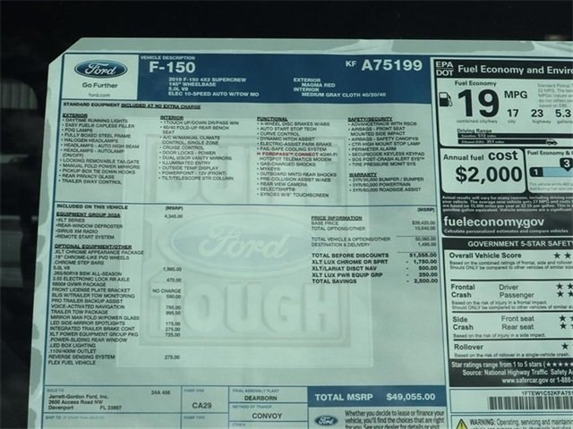 2019 F-150 SuperCrew Cab 4x2,  Pickup #40643 - photo 10