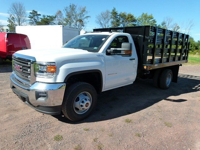 2017 Sierra 3500 Regular Cab 4x4, Reading Stake Bed #Q27114 - photo 4