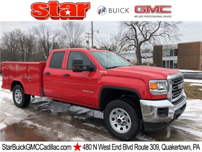 2018 Sierra 3500 Extended Cab 4x4, Reading Classic II Steel Service Body #Q28025 - photo 1