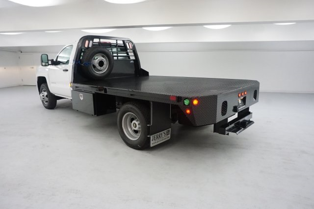 2018 Silverado 3500 Regular Cab DRW 4x4, Platform Body #JF124954 - photo 2