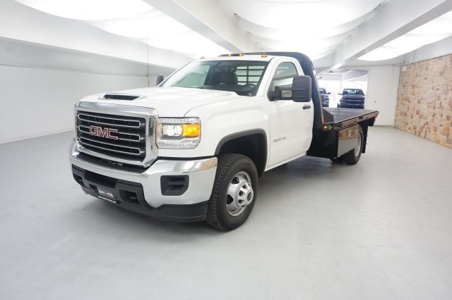 2019 Sierra 3500 Regular Cab DRW 4x2,  CM Truck Beds Platform Body #KF101079 - photo 3