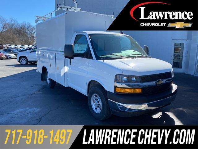 2021 Chevrolet Express 3500 4x2, Reading Service Utility Van #210561 - photo 1
