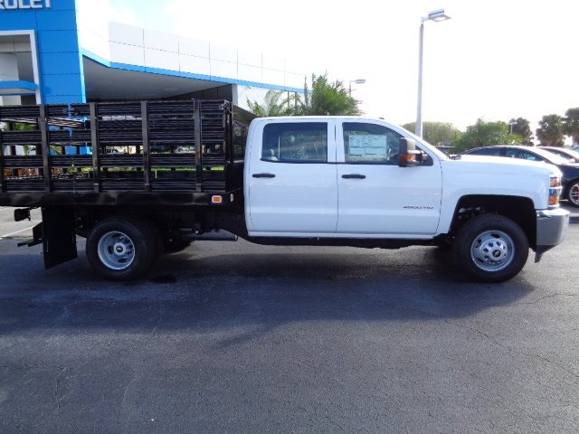 2018 Silverado 3500 Crew Cab DRW 4x2,  Knapheide Value-Master X Stake Bed #N8168 - photo 4