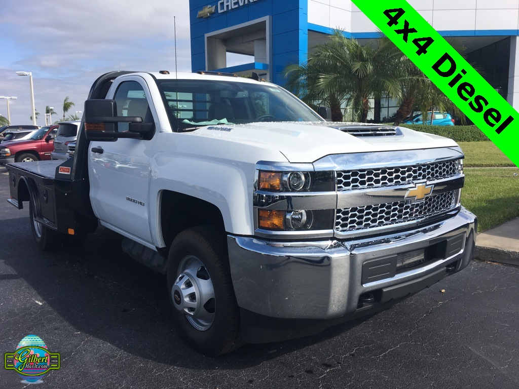 2019 Silverado 3500 Regular Cab DRW 4x4,  CM Truck Beds SK Model Platform Body #NC9229 - photo 1
