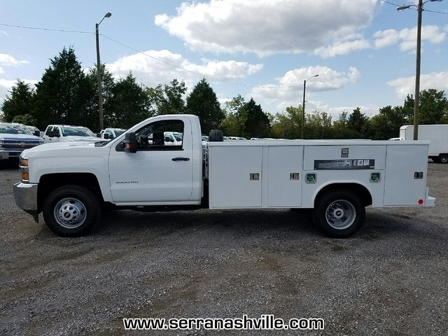 2017 Silverado 3500 Regular Cab DRW 4x4,  Reading Classic II Aluminum  Service Body #C72066 - photo 4