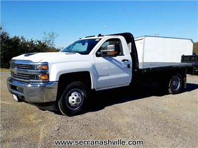 2018 Silverado 3500 Regular Cab DRW, Knapheide PGNB Gooseneck Platform Body #C80270 - photo 4