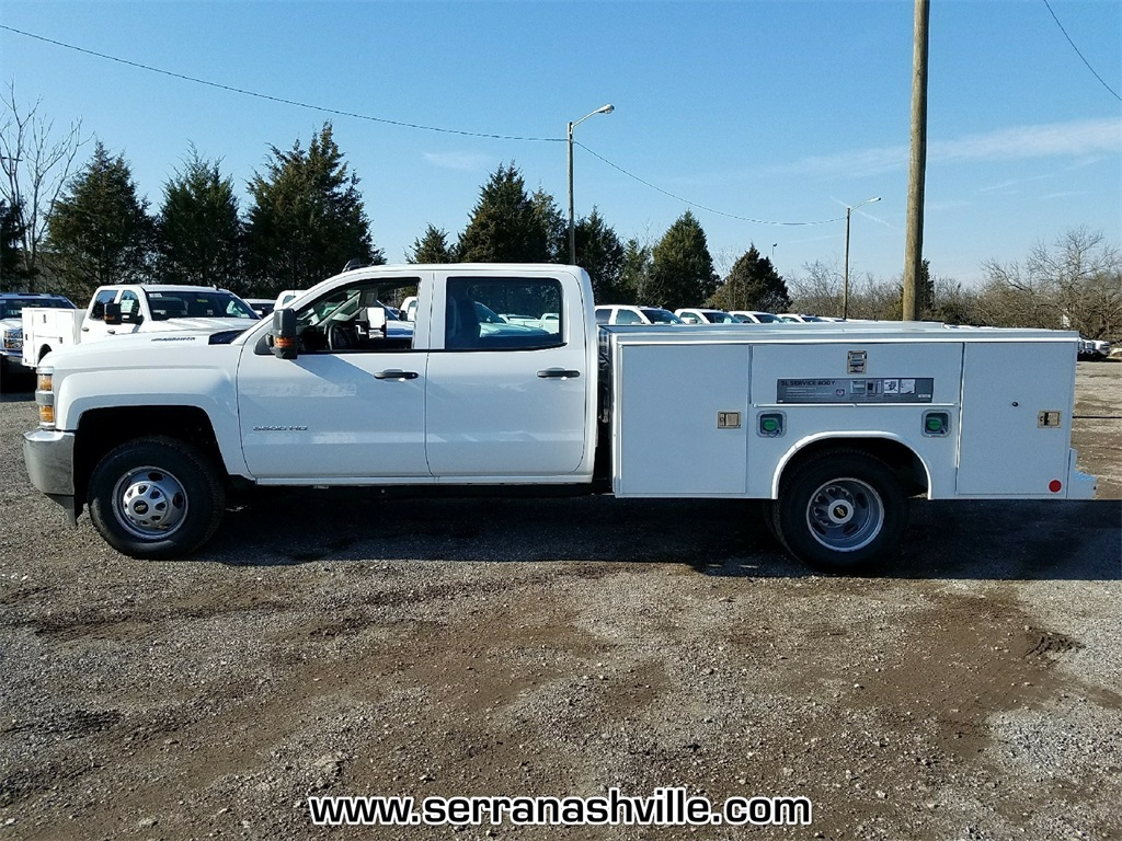2018 Silverado 3500 Crew Cab DRW 4x4,  Reading Service Body #C80707 - photo 2