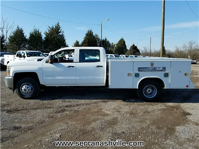 2018 Silverado 3500 Crew Cab DRW 4x4, Service Body #C80707 - photo 2