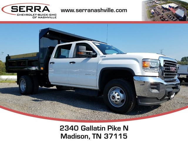 2017 Sierra 3500 Crew Cab DRW 4x4, Freedom Load-Pro Dump Body #C72705 - photo 1