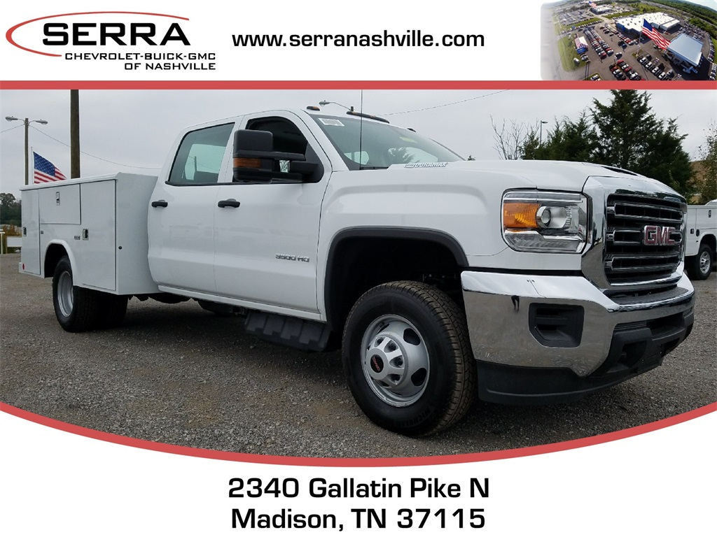 2017 Sierra 3500 Crew Cab DRW, Reading Classic II Steel Service Body #C72742 - photo 1