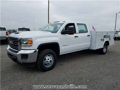 2017 Sierra 3500 Crew Cab DRW, Reading Classic II Steel Service Body #C72742 - photo 4