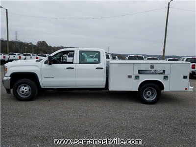 2017 Sierra 3500 Crew Cab DRW, Reading Classic II Steel Service Body #C72742 - photo 5
