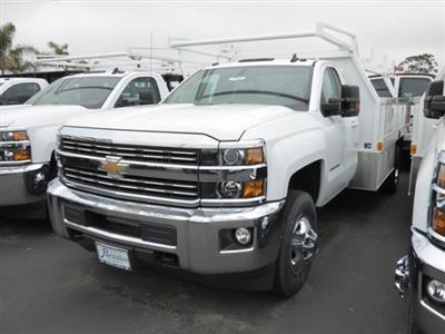 2017 Silverado 3500 Regular Cab DRW 4x2,  Harbor Standard Contractor Body #T171097 - photo 2