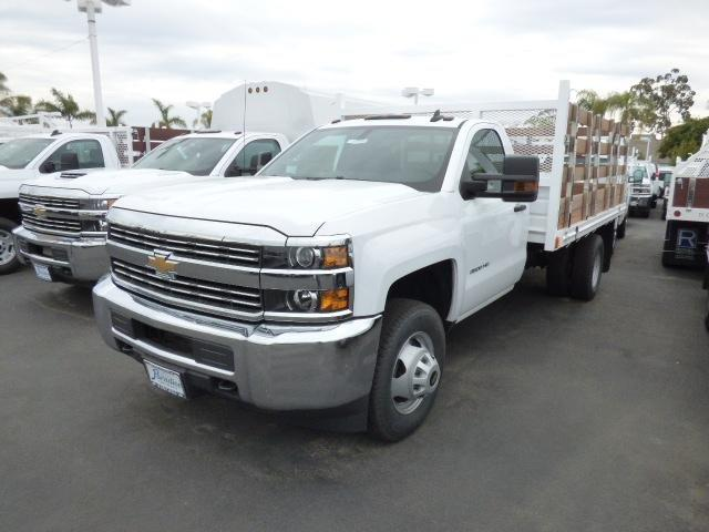 2017 Silverado 3500 Regular Cab DRW 4x2,  Martin's Quality Truck Body Stake Bed #T171149 - photo 3