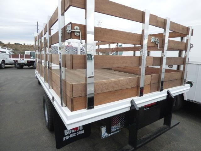 2017 Silverado 3500 Regular Cab DRW 4x2,  Martin's Quality Truck Body Stake Bed #T171149 - photo 2