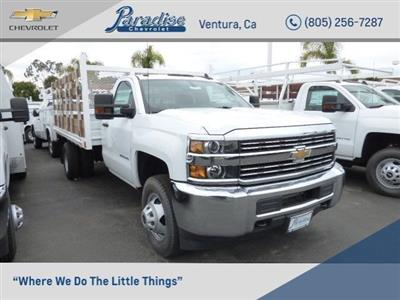 2017 Silverado 3500 Regular Cab DRW 4x2,  Martin's Quality Truck Body Stake Bed #T171149 - photo 1