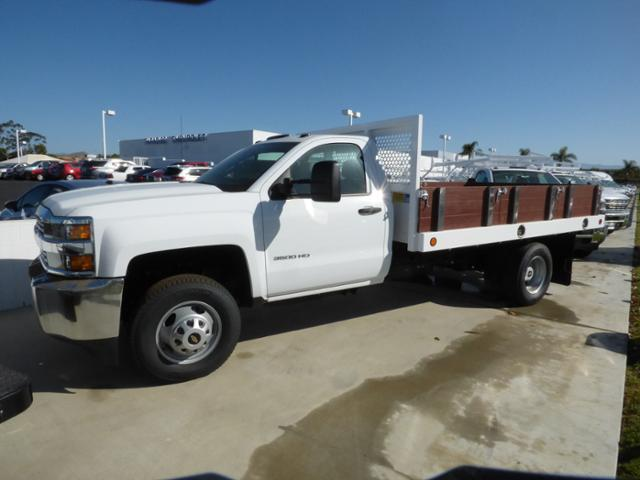 2017 Silverado 3500 Regular Cab DRW 4x2,  Royal Stake Bed #T171167 - photo 3