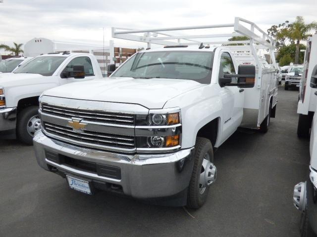 2017 Silverado 3500 Regular Cab DRW 4x2,  Harbor ComboMaster Combo Body #T171364 - photo 3