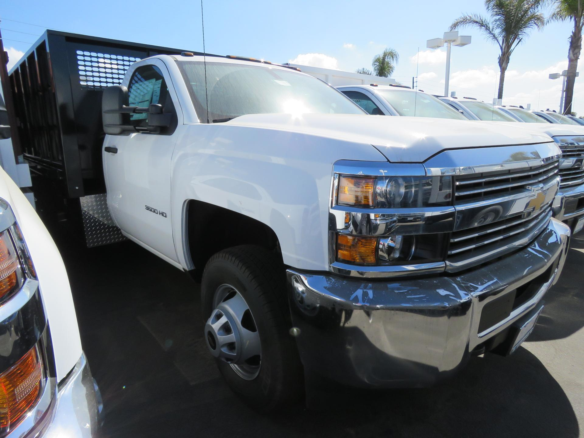 2017 Silverado 3500 Regular Cab DRW 4x2,  CM Truck Beds PL Model Stake Bed #T171503 - photo 1