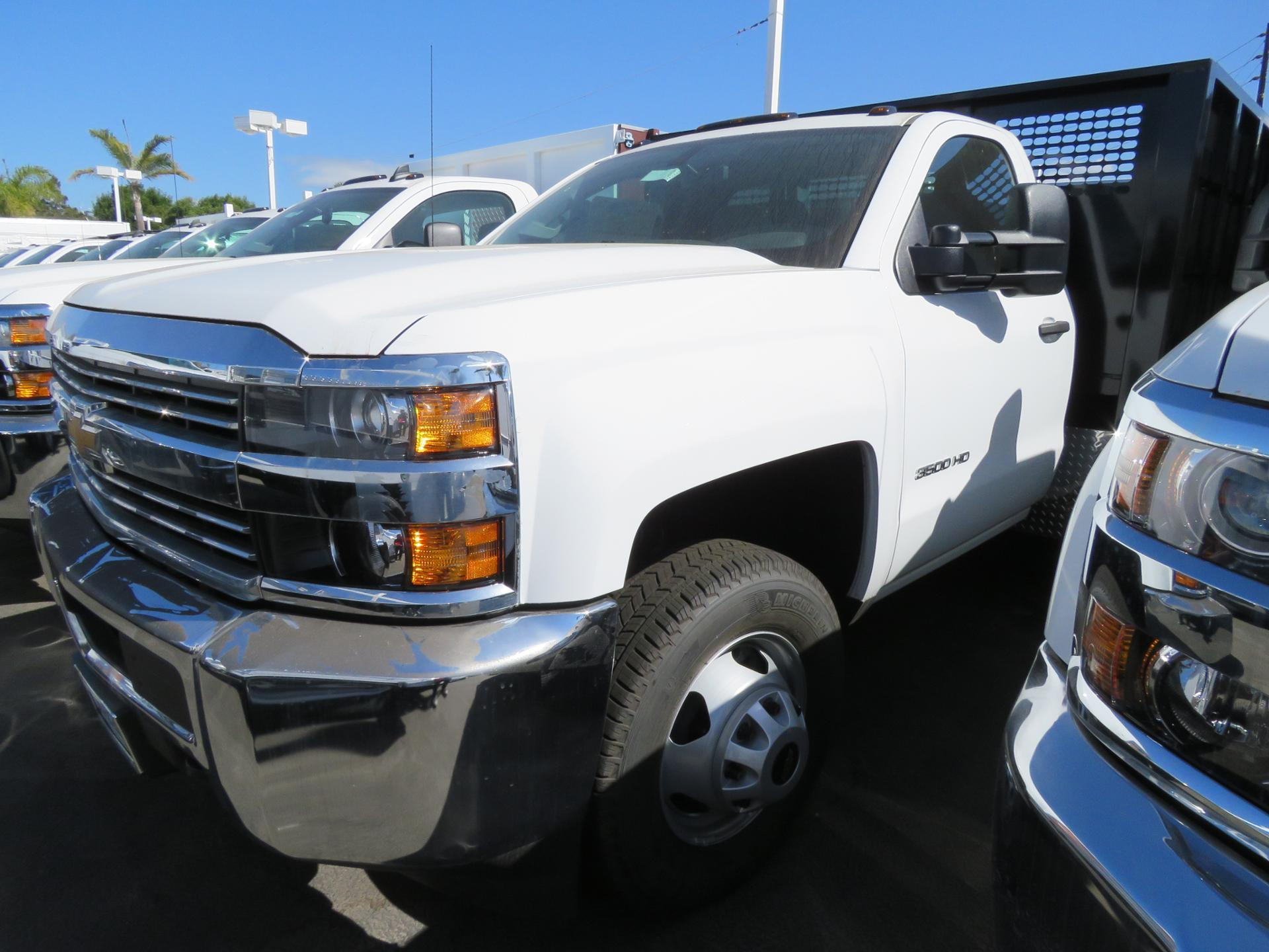 2017 Silverado 3500 Regular Cab DRW 4x2,  CM Truck Beds PL Model Stake Bed #T171503 - photo 2