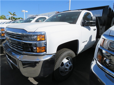 2017 Silverado 3500 Regular Cab DRW 4x2,  CM Truck Beds PL Model Landscape Dump #T171503 - photo 2
