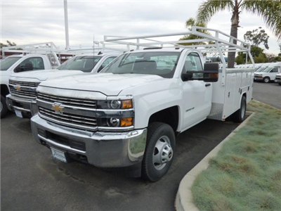 2017 Silverado 3500 Regular Cab DRW 4x2,  Harbor TradeMaster Service Body #T17858 - photo 3