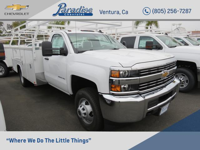 2017 Silverado 3500 Regular Cab DRW 4x2,  Harbor TradeMaster Service Body #T17921 - photo 1