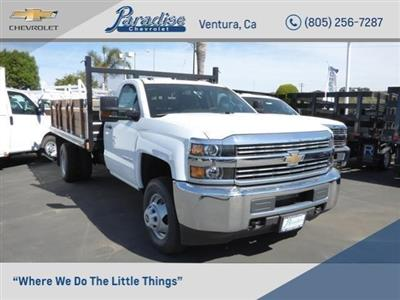 2017 Silverado 3500 Regular Cab DRW 4x2,  Stake Bed #T17978 - photo 1
