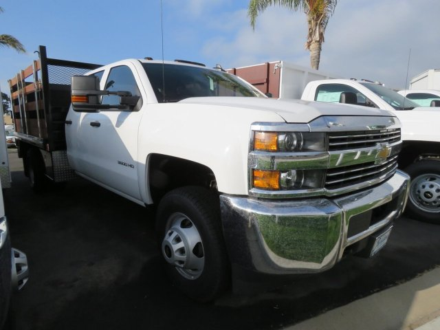 2018 Silverado 3500 Crew Cab DRW 4x2,  Martin's Quality Truck Body Stake Bed #T181146 - photo 1