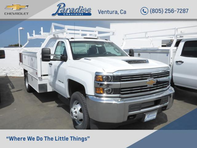 2018 Silverado 3500 Regular Cab DRW 4x2,  Royal Contractor Body #T18467 - photo 1