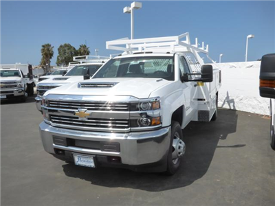2018 Silverado 3500 Regular Cab DRW 4x2,  Royal Contractor Body #T18467 - photo 2