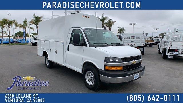 2021 Chevrolet Express 3500 4x2, Royal Truck Body Service Utility Van #T21971 - photo 1